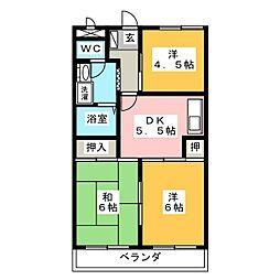 三宅ハイツ[1階]の間取り