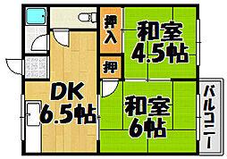 コーポ垣根 I・II[1-201号室]の間取り