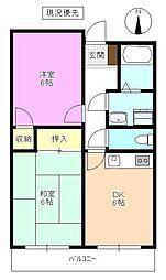 長野県松本市庄内1丁目の賃貸マンションの間取り