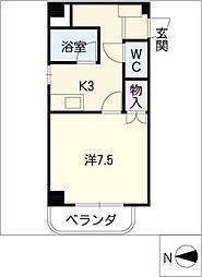 栄ハイツ[4階]の間取り