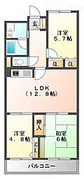 アーク江坂[11階]の間取り
