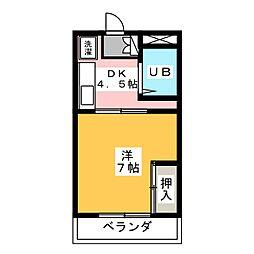 サンハイツ前田[3階]の間取り