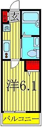 NK HOUSE[205号室]の間取り