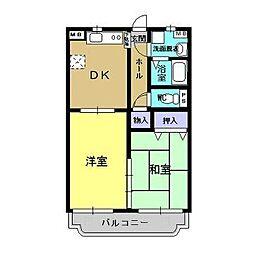 ユーミー青柳1号館[2階]の間取り