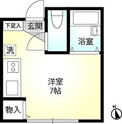 港南区上永谷 ウインズ上永谷B棟102号室[1階]の間取り