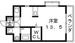 ロータリーマンション長田東[505号室号室]の間取り