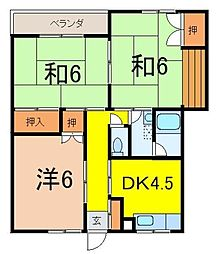 コーポヤカタ[2階]の間取り