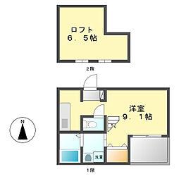 レジデンシアコート[2階]の間取り