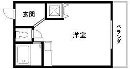 ブランシャトー久米田[102号室]の間取り
