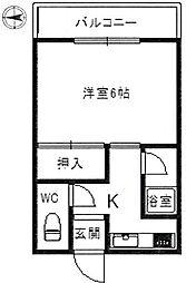 上本郷ハイツ[2階]の間取り