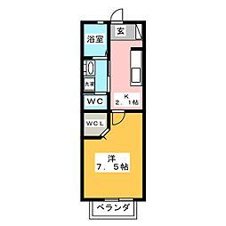 シャトラン[1階]の間取り