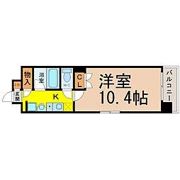 レージュAsano[102号室]の間取り