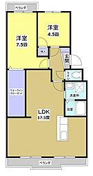 フローラ蜆塚II[3階]の間取り