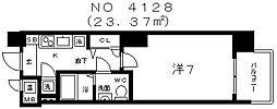 アドバンス上町台グレイス[5階]の間取り