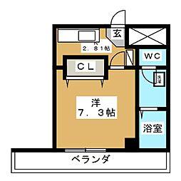 コットンK[4階]の間取り