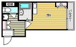 フローラ茨木[105号室]の間取り