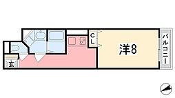 MISTRAL飾磨駅前[202号室]の間取り
