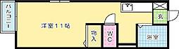 福岡県北九州市小倉北区大田町の賃貸アパートの間取り