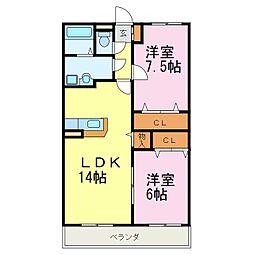 第1コンフォート[2階]の間取り