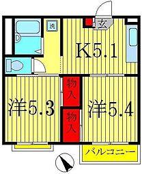 エステート新松戸[3階]の間取り