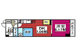 仙台市地下鉄東西線 薬師堂駅 徒歩5分の賃貸マンション 2階1DKの間取り