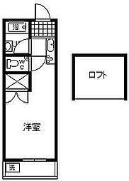 プレステージ[206号室]の間取り