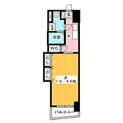 ロイヤルリバービュー143[2階]の間取り