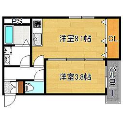 セゾンクレアスタイル平野本町[2階]の間取り