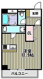 ルフレ堺[6階]の間取り