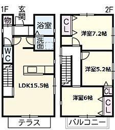 [一戸建] 愛知県名古屋市名東区赤松台 の賃貸【/】の間取り