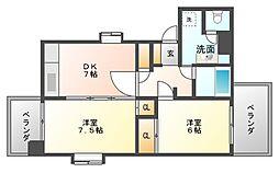 レジデンス松寿[7階]の間取り