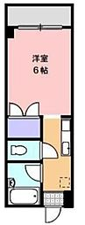 JR高徳線 志度駅 徒歩27分の賃貸マンション 2階1Kの間取り
