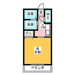 フロラシオン徳川山[1階]の間取り