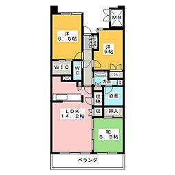 Cassia桜山[12階]の間取り