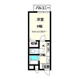 シンセナリ—ハイツ[2階]の間取り
