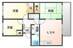 [タウンハウス] 福岡県福岡市城南区南片江2丁目 の賃貸【/】の間取り
