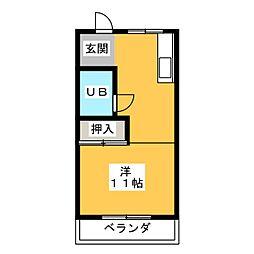 浜崎ハイツ[2階]の間取り