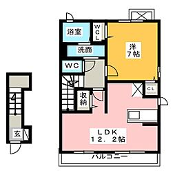 ボン・クロッシュII[2階]の間取り