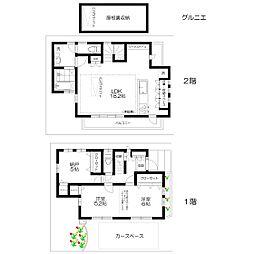 [一戸建] 東京都武蔵野市吉祥寺本町3丁目 の賃貸【/】の間取り