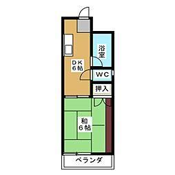 メゾンベルジュール春岡[3階]の間取り