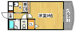 ライム高田[2階]の間取り