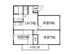 エステートピア65[2階]の間取り
