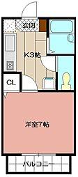 カンパーニュ出屋敷II[102号室]の間取り