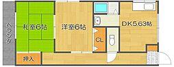 トモエハイツII[4階]の間取り