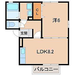 ラパン Mikazura[2階]の間取り