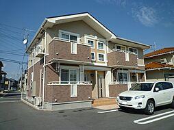 岡山県倉敷市福井の賃貸アパートの外観