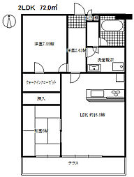 フォーシーズン・アパートメント[2階]の間取り