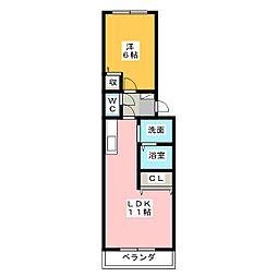 シャトーマジョール[5階]の間取り