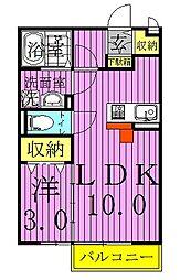 メゾンローレル[2階]の間取り