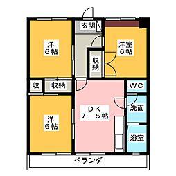 ワイズビル[5階]の間取り